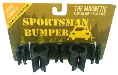 Sportsman bumper vehicle rod holder portable