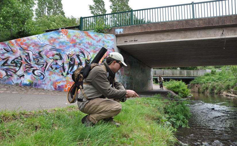 Urban fly fishing Theo Pike