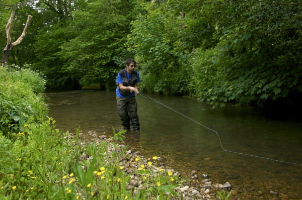 spring fly fishing in Devon