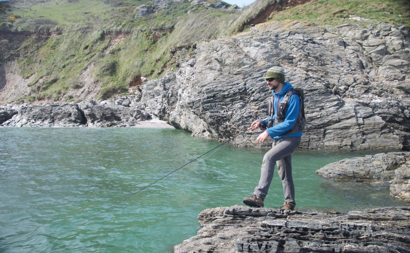 Saltwater fly fishing Devon