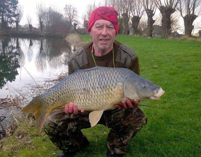 Specimen carp on fly