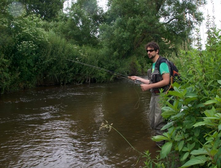 River fly fishing Devon