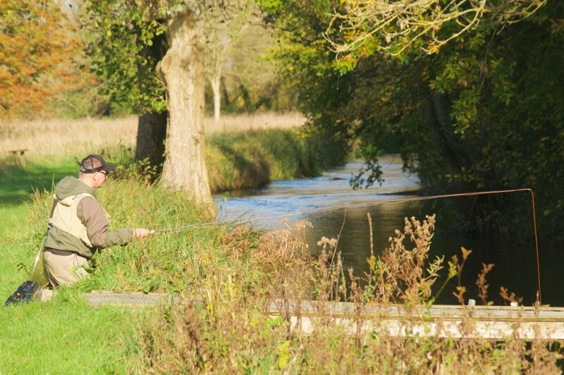 River Test grayling fishing Timsbury winter