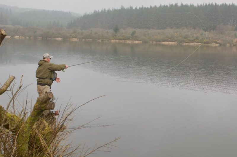 Fly fishing Fernworthy Reservoir