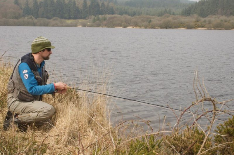 Fly fishing Dartmoor lakes