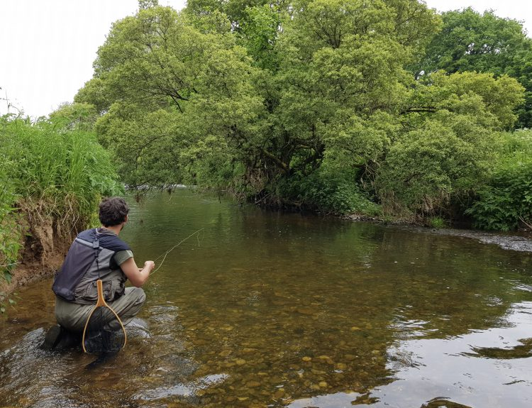 Dom Garnett fly fishing Devon UK