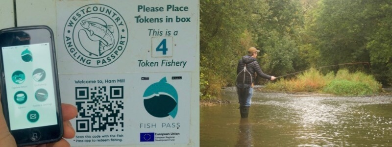 Fish Pass App fly fishing day ticket Devon Cornwall