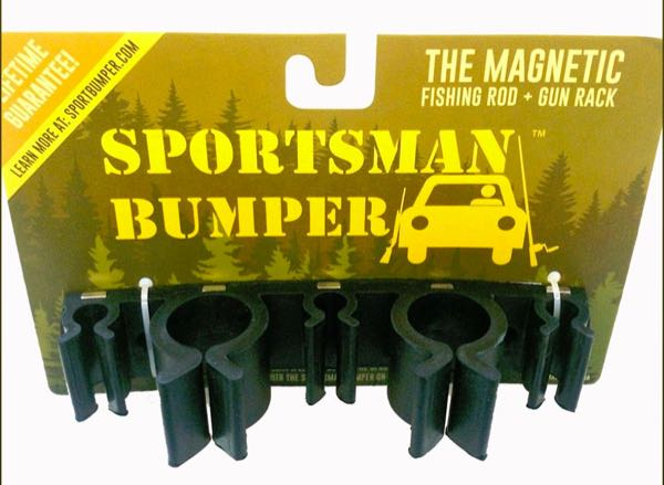 Sportsman bumper fishing rod holder car