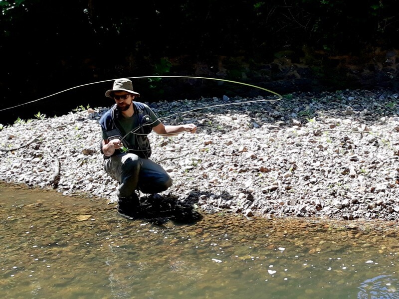 Dom Garnett fly fishing