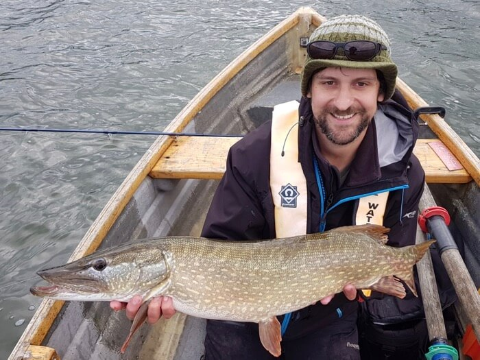 Dom Garnett fly fishing for pike coarse fish