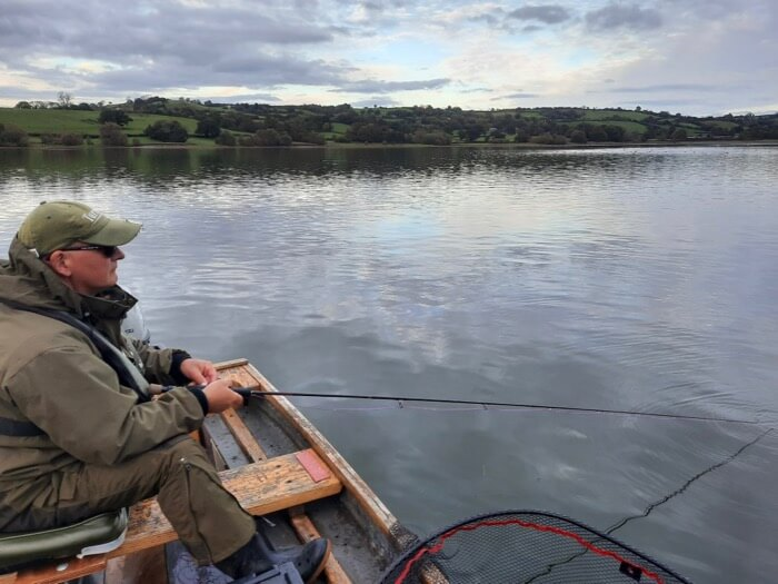 Pike fly fishing Blagdon